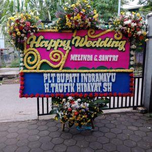 Bunga Papan Happy Wedding 01