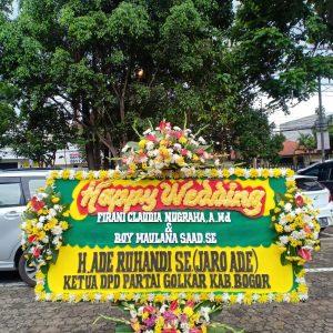 Bunga Papan Happy Wedding 05